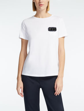 T-Shirt for Women On Sale, Blue, Cotton, 2017, 10 12 6 8 Weekend by Max Mara
