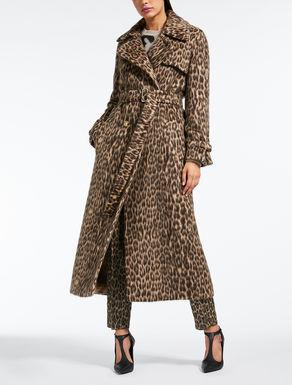 Trench-coat en laine et alpaga