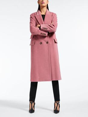 Mantel aus Kamelhaar-Biberpelz