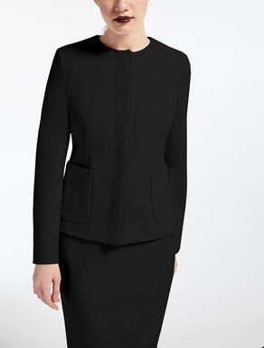 Wool crepe blazer