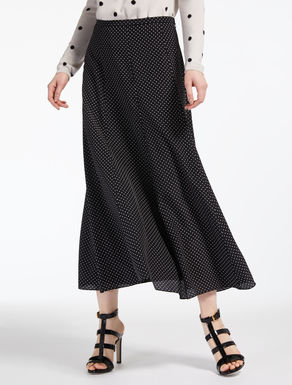 Silk crepe de chine skirt