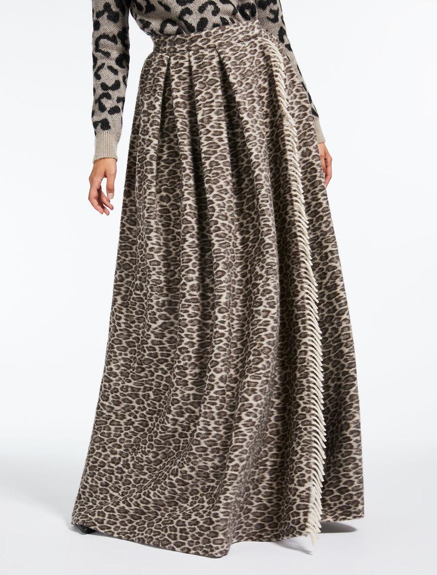 ウール アルパカマキシ スカート