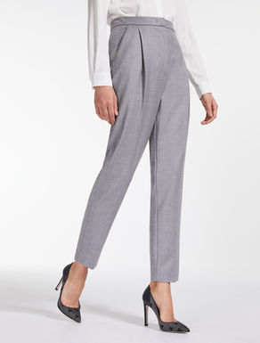 Fulled wool trousers