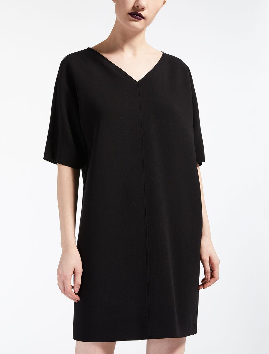 ヴァージンウールクレープ ドレス