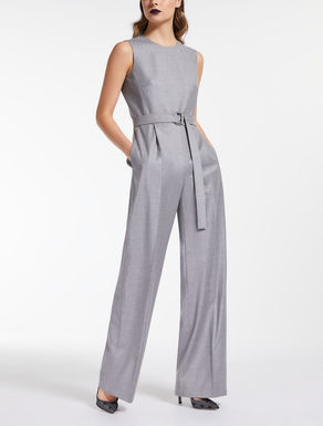 Fulled wool jumpsuit