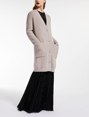 Cashmere and wool yarn cardigan