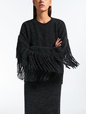 Mohair wool yarn pullover