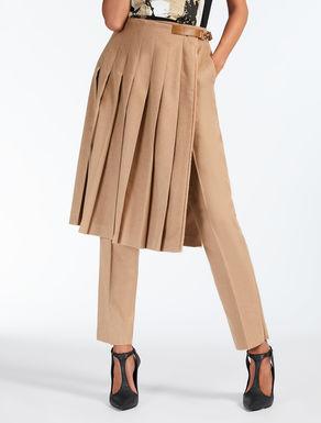 Camel tartan belt