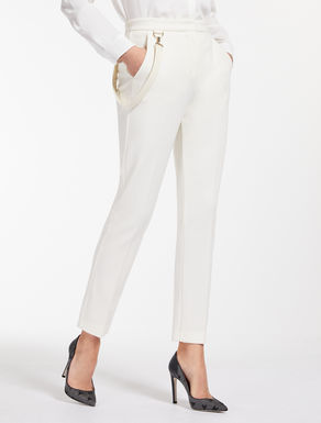 Wool jersey trousers