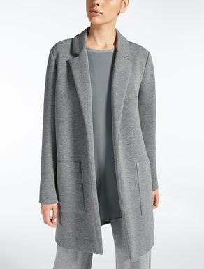 Mantel aus Scuba-Jersey