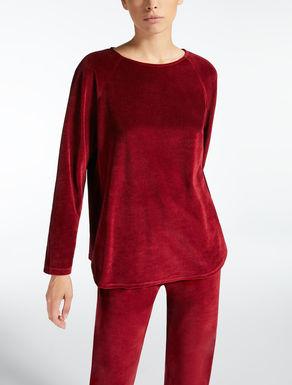 Chenille jersey sweatshirt
