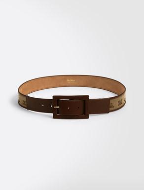 Cinturón de tejido jacquard