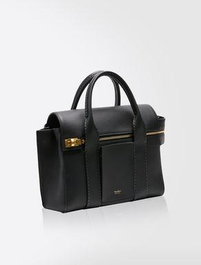 Maxi leather shopper bag