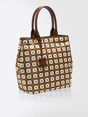 Printed technical twill shopper bag