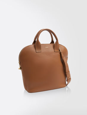 Maxi leather shopper bag