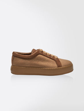 Cashmere lace-up sneakers
