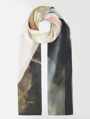 Silk crepon foulard