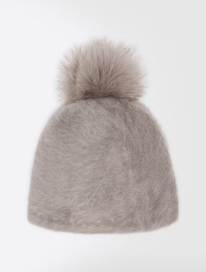 Angora and fox-fur hat