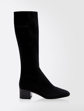Stretch knit boots