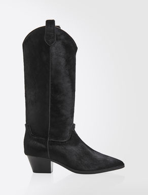 Pony-skin Texan boots