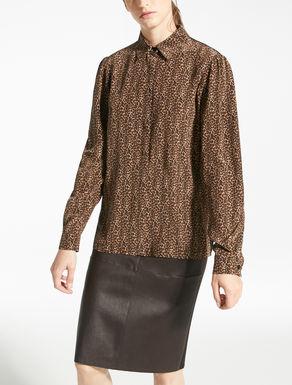 Jersey and silk shirt