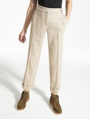 Tweed wool trousers