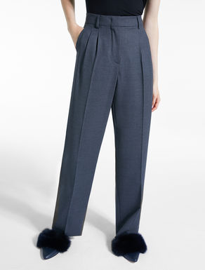 Wool sable trousers