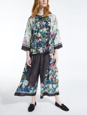 Blusa in crêpe de Chine di seta