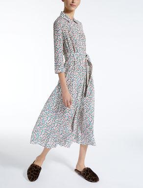 Vestido en crepé de China de seda