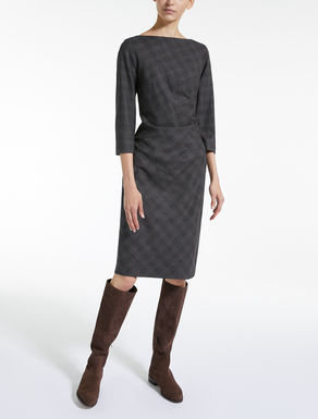 Wool flannel dress
