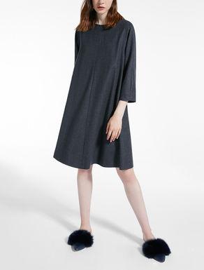 Vestido en franela de lana