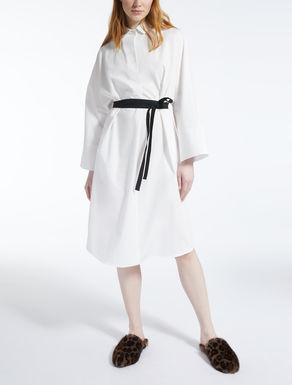 Vestido en popelina de algodón