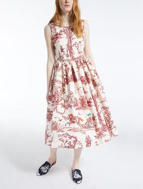 Vestido en faya de algodón