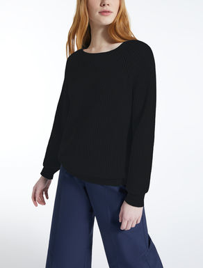 Cotton and wool jumper