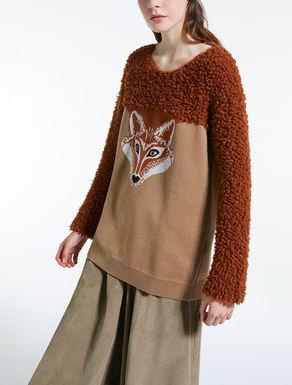 Jacquard wool yarn jumper