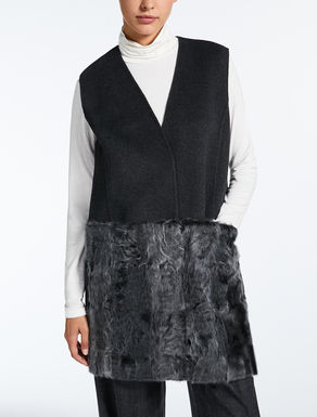 Wool and fur gilet