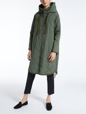 Water-repellent gabardine down coat