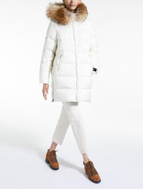 Water-repellent nylon canvas down coat