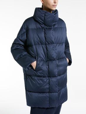Water-repellent satin down jacket