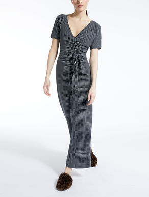 Viscose knit jumpsuit