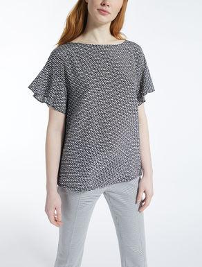 T-shirt en soie et jersey stretch