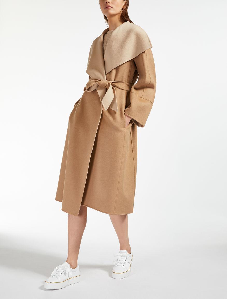 Manteau en laine, cachemire et soie