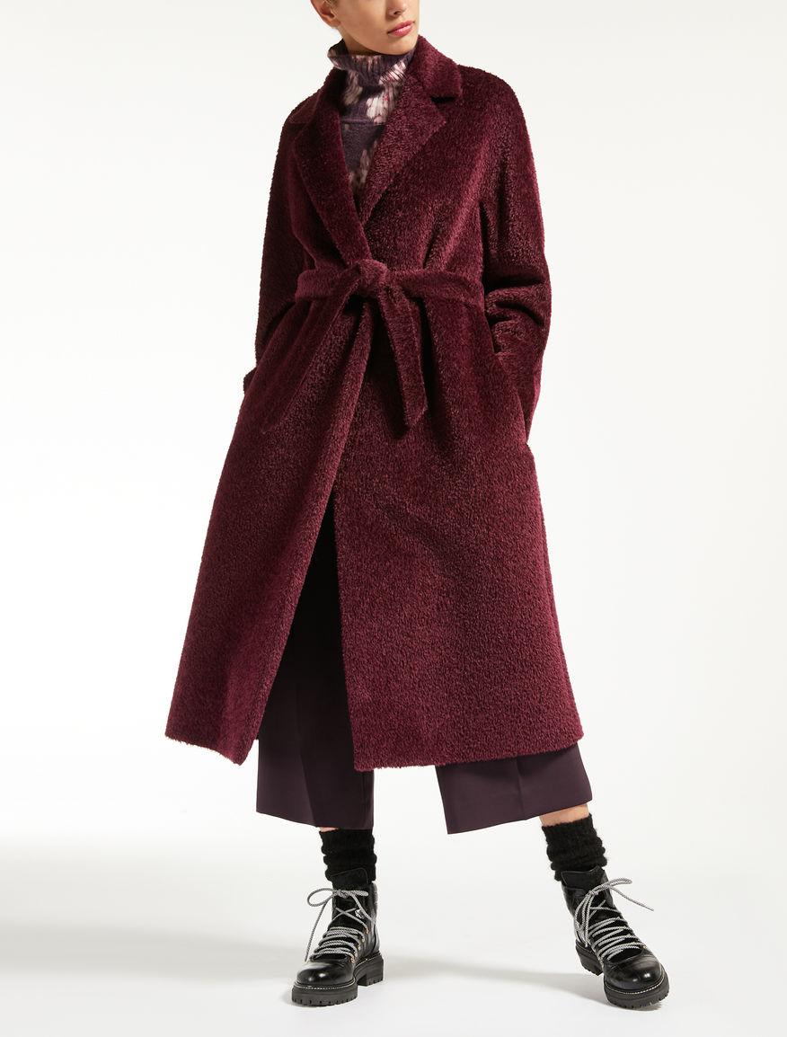 alpaca and wool coat aubergine gennaio max mara