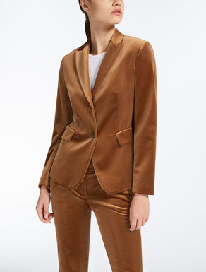 Blazer aus Samt-Stretch