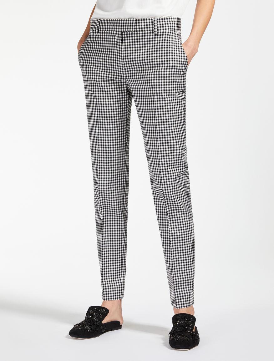 Pantalon en flanelle de laine et coton
