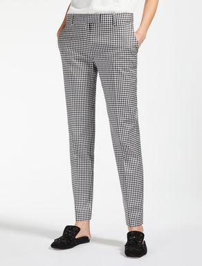 Pantalón en franela de lana y algodón