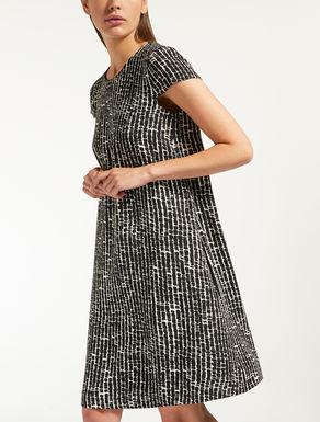 ポリエステル キャディプリント ドレス