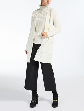 Wool and cashmere yarn cardigan