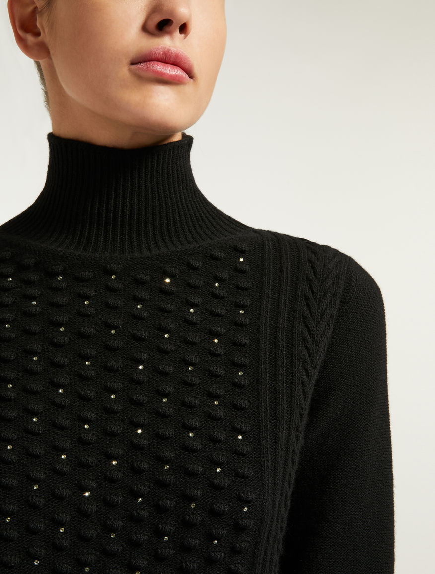 e64fd5edba8be Wool and cashmere yarn polo neck jumper