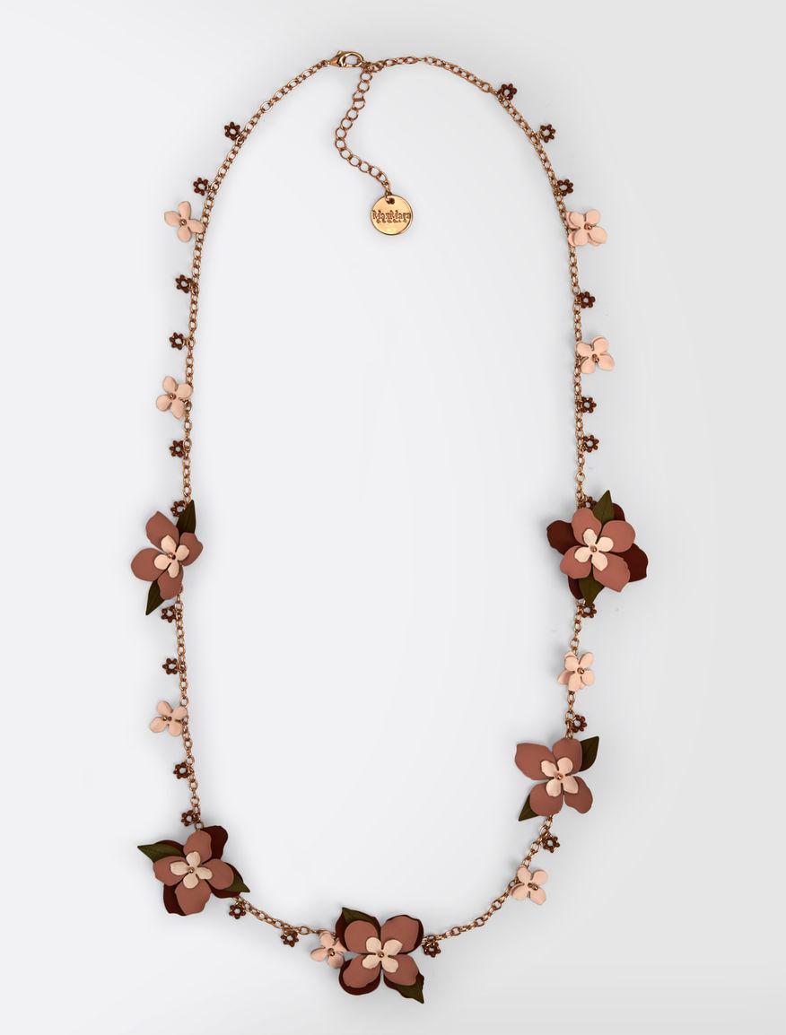 Collier à fleurs en métal
